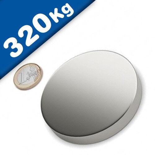 Nickel hält 320 kg Scheibenmagnet // Rundmagnet Ø 80x20mm – Neodym N45 NdFeB