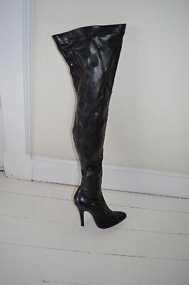 sorte overknee støvler