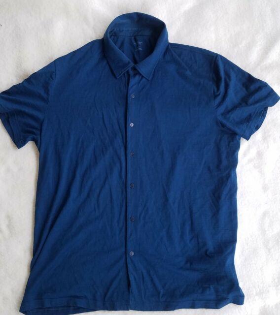Icebreaker XL Knit Merino Wool Short-sleeve Button-down shirt