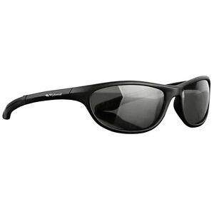 e3812bdb7cd Image is loading Wychwood-Black-Wrap-Around-Polarised-Smoke-Lens-Sunglasses-