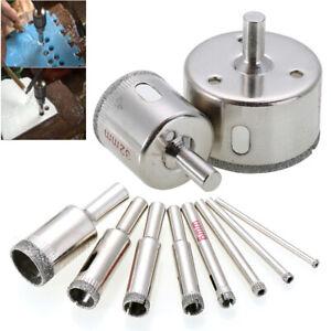 10pcs 3mm-50mm Diamond Tool Drill Bit Hole Saw Glass Ceramic Marble Tile Kit