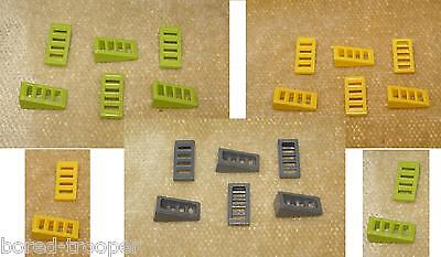 LEGO® Pearl Gold Slope 18 2 x 1 x 2//3 4 Slots Part 61409