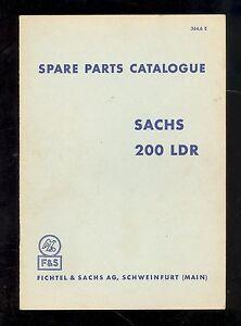 SACHS 200 LDR PARTS MANUAL / ORIGINAL / 364.6/E | eBay