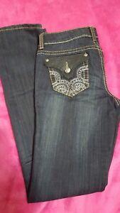 Antique-Rivet-Waistline-28-Embellished-Rhinestone-Pockets-with-Leather
