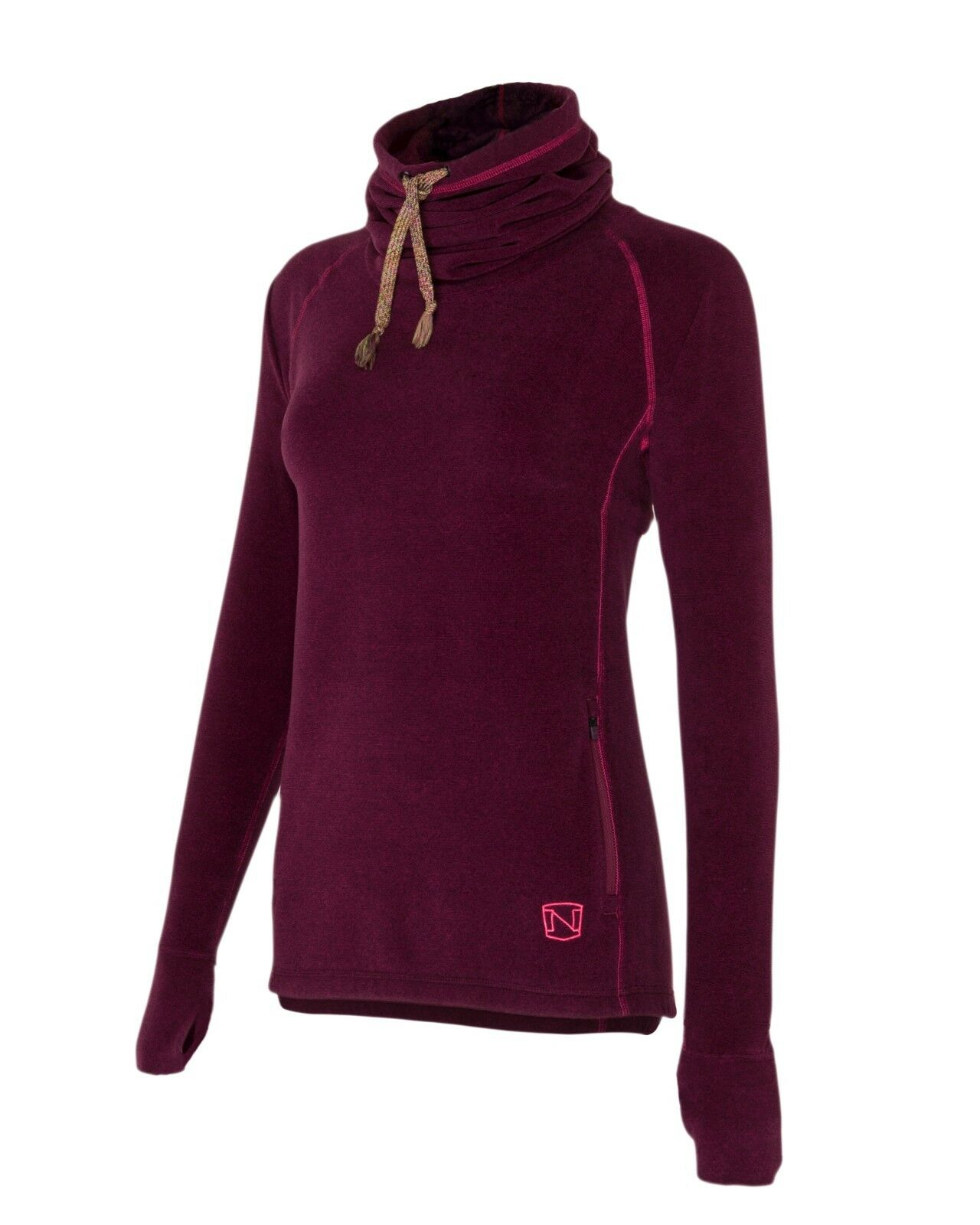 NEW  Noble Outfitters Ladies Ladies Ladies Cozy Cowl Jumper Cranberry Size XS-XL 615b3c
