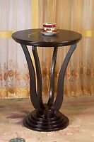 Vintage Round End Side Table Living Room Decor Accent Furniture Durable Wood