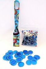 Bingo Magnetic Wand And Chips Designer Pick Up Set Blue