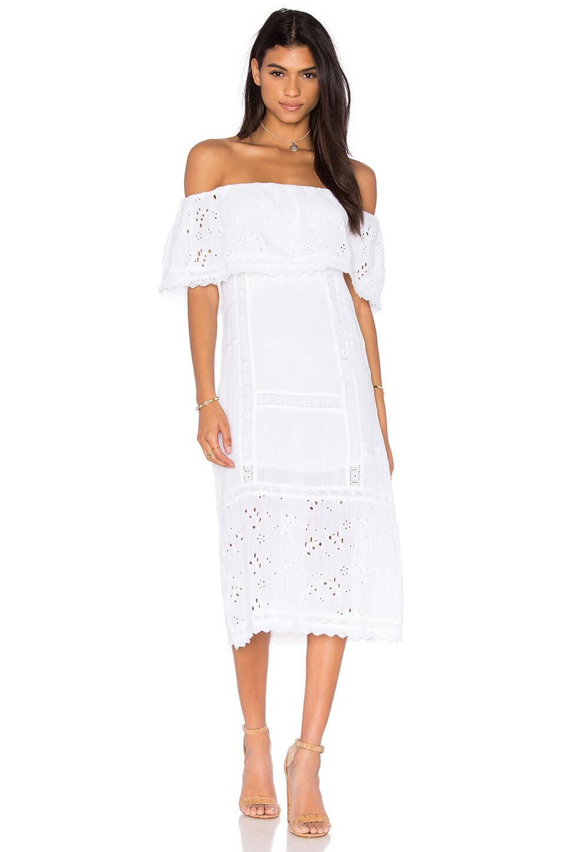 NWT  198 fri människor Most Beautiful Cotton Midi Dress Ivory