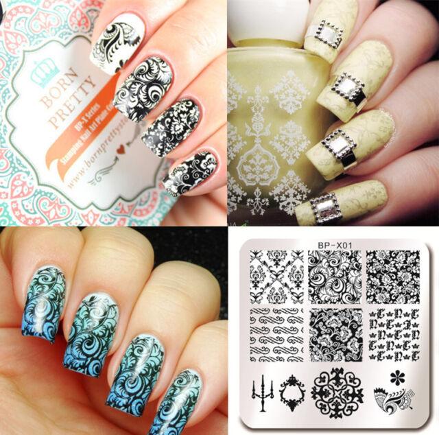 Born Pretty Bp X01 Nail Art Stamping Image Plate Manicure Stencil