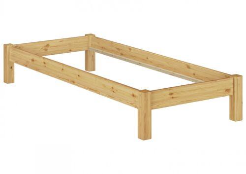 Structure de lit existante 80x200 cm lit futon pin massif holzbett 60.35-08 or