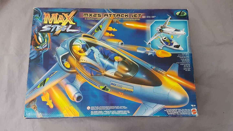 Max Steel MX25 Attack Jet & battle Luge   Flugzeug Mattel 21835 unbenutzt in Ovp