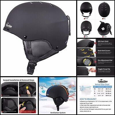 Black 55-56cm FREE SHIP Small Snowboard Helmet Turboske Ski Helmet