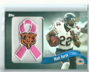 2013-Topps-NFL-Patch-PINK-Ribbon-Matt-Forte-Excellent-Condition-PR-MF