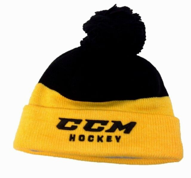a4656214909 Frequently bought together. CCM HOCKEY SENIOR ADULT BLACK YELLOW KNIT ...