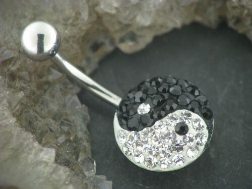 Ombligo piercing pendientes multi cristal disc Yin Yang crystalside Art oreja
