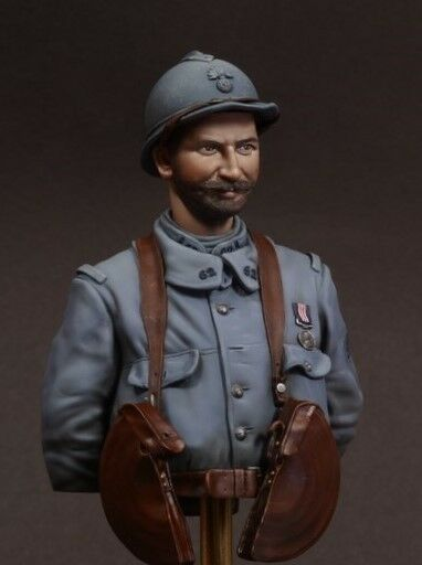Jon Smith French Army Chauchat MG Gunner 1916 WW1 1 10th bust Unpainted kit