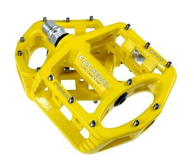 Magnesium alloy Road MTB Mountain Bike XC AM Bicycle Pedal Flat Pedals Yellow