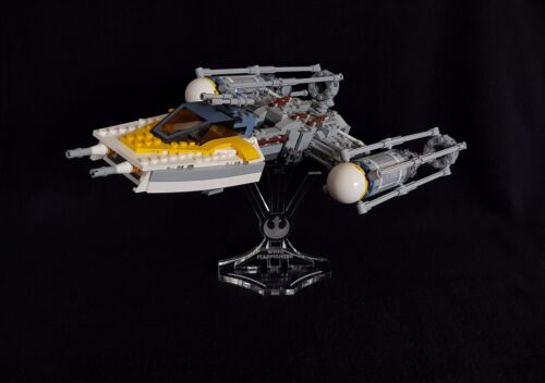 Display stand angled for Lego 75172 //7658 //9495 Y-Wing Starfighter Star Wars