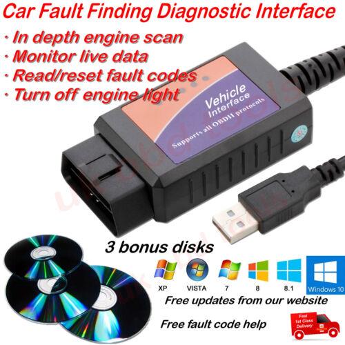 Fits Peugeot 1007 107 206 207 307 308 2008 407 607 807 OBD2 Fault Code Scanner