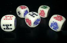 5  X POKER DICE CRAPS - NEW AND FREE SHIPPING
