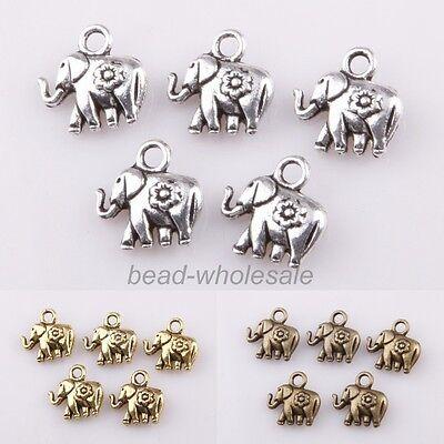 Hot Sale 30pcs Charm Cute Tibetan silver Thailand Elephant Pendant For Necklace