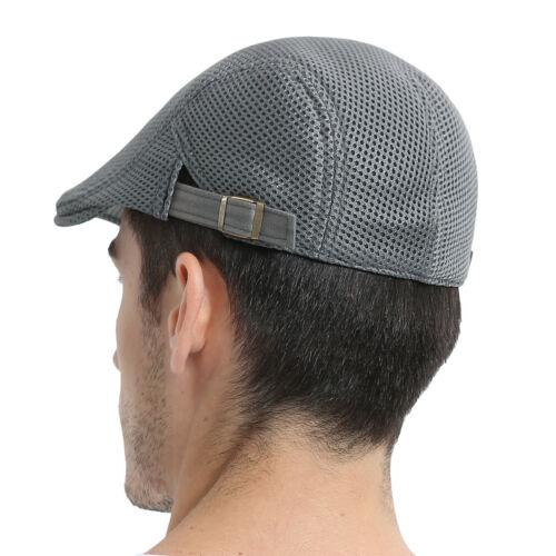 Summer Men/'s Breathable mesh Ivy Cap Beret Newsboy hat Gatsby Cap Cabbie FlatCap