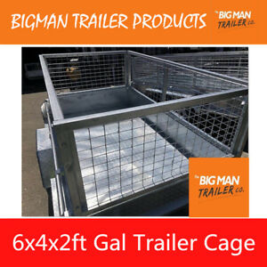 New-Box-Trailer-Mesh-Cage-Galvanised-Heavy-Duty-6x4x2ft