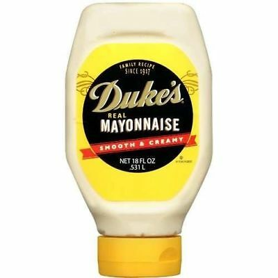 Duke's Real Mayonnaise Smooth & Creamy 18 oz Bottle (OVERSTOCK SALE)