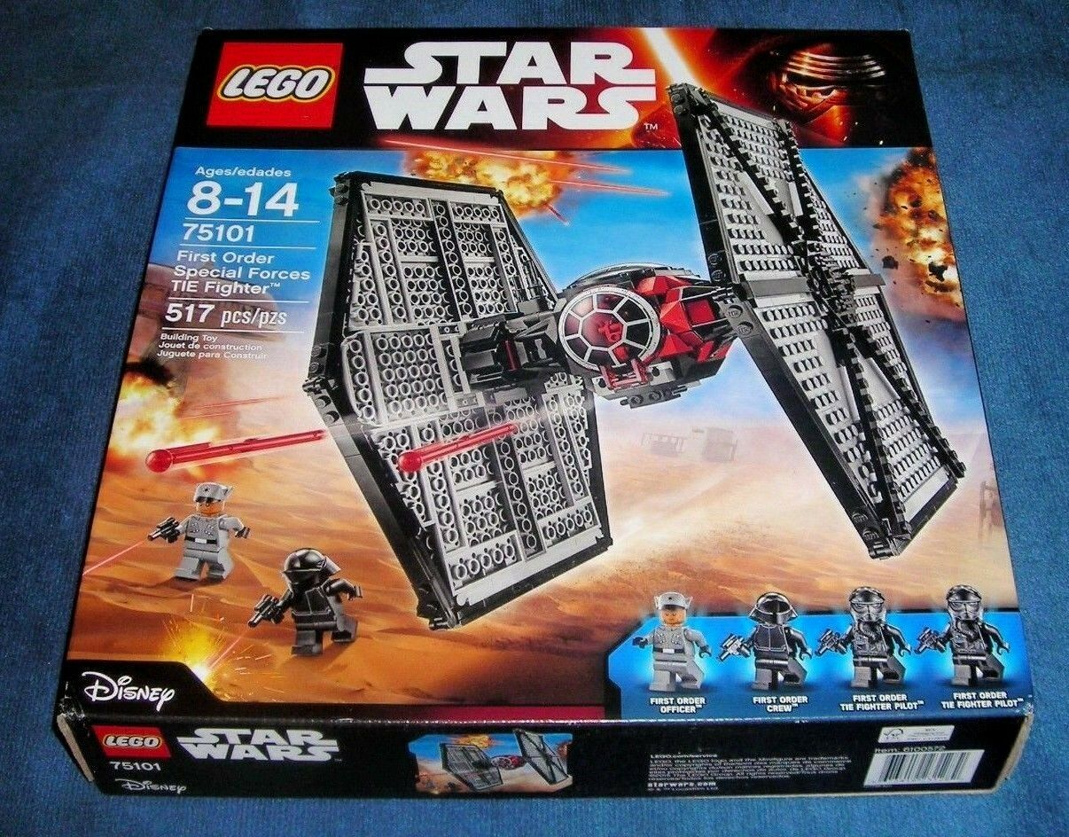 LEGO 75101 STAR WARS FIRST ORDER SPECIAL FORCES TIE FIGHTER SITH YODA LUKE VADER