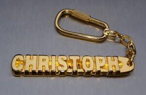Ehrlich Edler SchlÜsselanhÄnger Christoph Vergoldet Gold Name Keychain Geschenk Hitze Und Durst Lindern.