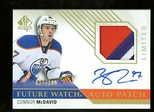 2015-16 SP Authentic Future Watch Connor McDavid RC Rookie RPA Patch AUTO /100