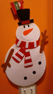 Jointed Felt Christmas Frosty The Snowman Colorful Winter Door