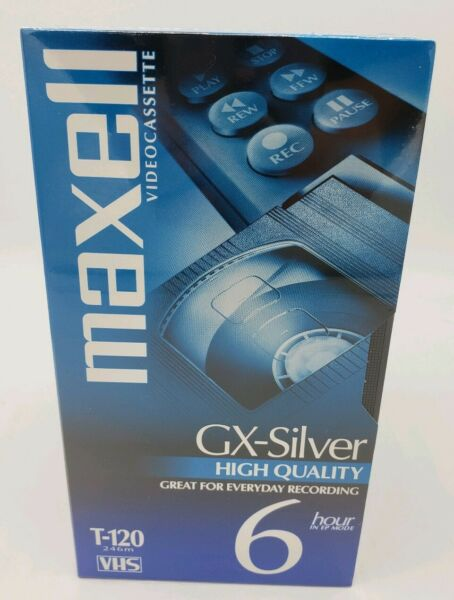 (4) Maxell Video Cassette Gx-silver Blank Vhs Tapes T-120 / 246m New Sealed Shrink-Proof