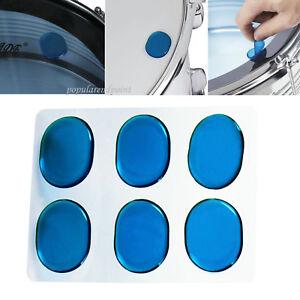 6pcs-Box-Blue-Drum-Dampening-Damper-Gel-Gum-Pads-Tone-Control-Set