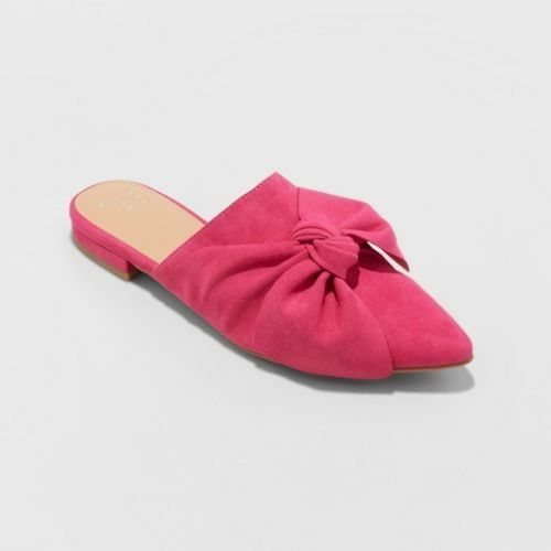 A New Day Women/'s Rhea Beth Mules With A Bow Pink NWT!