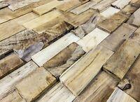 Wandverkleidung Holz Teakholz Altholz 3d Wandverblender Trendline 1 Qm Hwv44tn