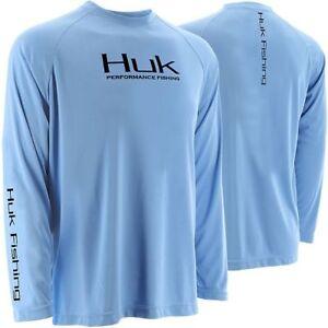 HUK-Youth-LS-Performance-Raglan-Fishing-Shirt-Pick-Color-Size-Free-Shipping