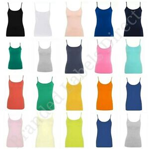 WOMEN-039-S-GIRLS-LADIES-ADJUSTABLE-STRAPS-STRETCH-CAMI-VEST-TOP-SIZE-8-24-GEORGE