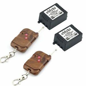 eMylo-DC-6V-2x-1-Ch-433Mhz-Smart-Wireless-Remote-Control-Light-Switch-RF-Relay