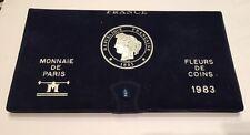 FDC TRES RARE COFFRET FLEUR DE COINS COMPLET DE 1983 @ QUALITE @ PETIT TIRAGE !!