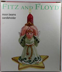 Fitz-and-Floyd-Moon-Beams-Candleholder-Christmas-Holiday-Decor