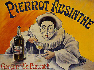 NICOLAS FRENCH WINE STORE FINE BOTTLES CHAMPAGNE ABSINTHE VINTAGE POSTER REPRO