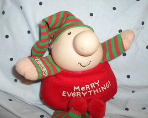 Tom-Wilson-Merry-Christmas-Ziggy-Comic-7-034-Plush-Soft-Toy-Stuffed-Animal