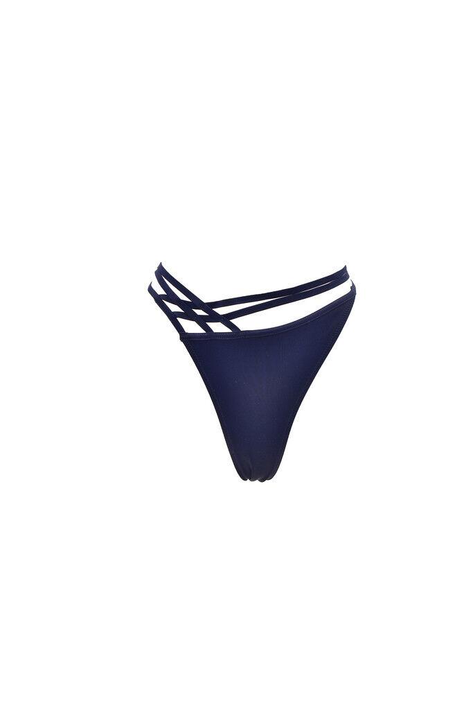 L'Agent by Agent Provocateur Women's Solid Bikini Brief bluee L RRP  BCF87