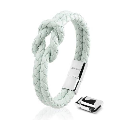 Leder Armband für Frauen mit Schmuckschachtel in verschiedenen Farben /& Längen