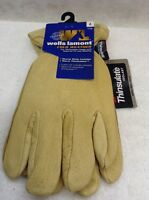 Brand Wells Lamont Leather Cold Weather Gloves Thinsulate Size Large
