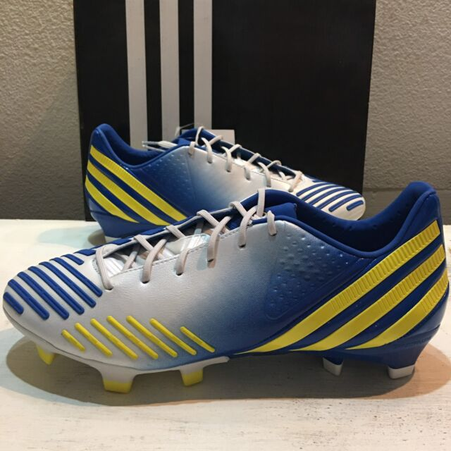 info for b57c3 cca8d adidas Predator LZ TRX FG Mens Soccer Cleats White blue yellow G65168 7.5