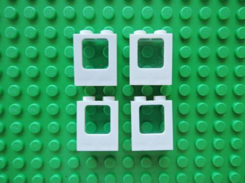 LEGO 4 x finestra aereo 60032 BIANCO 1x2x2 disco 60601 Transp chiaro