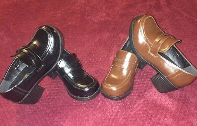 UK 10-2 S520 Girls Black Brogue Oxford Flats School Smart Pumps Shoes