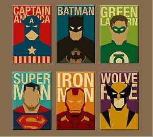 Image Is Loading Superhero Canvas Painting Modern Home Wall Decor